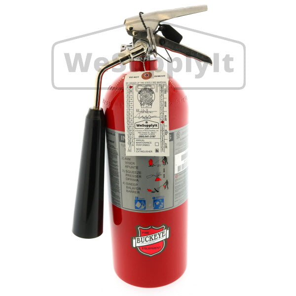 Buckeye 45100 Fire Extinguisher, Carbon Dioxide, 5lb, 5BC, With Wall Bracket