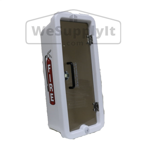 Cato Chief Fire Extinguisher Cabinet For 5lb Extinguisher White Plastic - Pull To Open