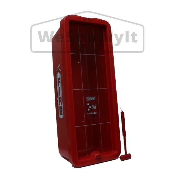 Extinguisher CATO 11001-O White Plastic Chief Fire Extinguisher Cabinet for 10 lb without Hammer//Breaker Bar and Cylinder Lock