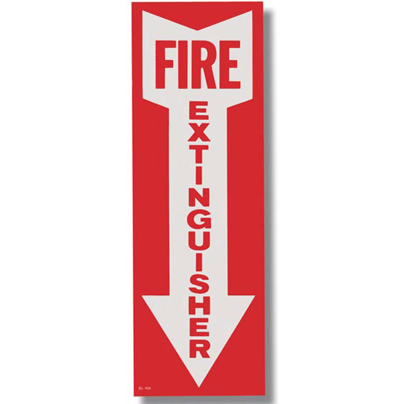 Fire Extinguisher Arrow Sign - Vinyl - Available in Multiple Sizes - S111