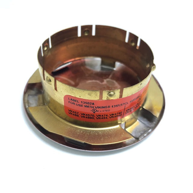 "Viking 13504 Concealed Escutcheon Label 13502 - 2 3/4"" Diameter - Available In Multiple Colors And Temperatures - W522"