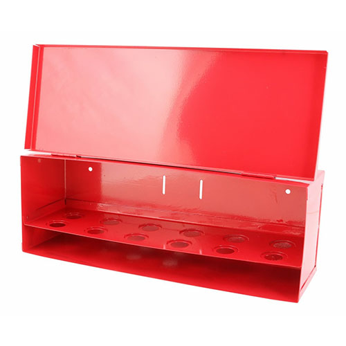 Fire Sprinkler Spare Head Box - 12 Head - Red - W509