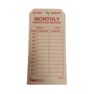"Monthly Inspection Tag - Card Stock 2 5/8"" x 5 1/4"""