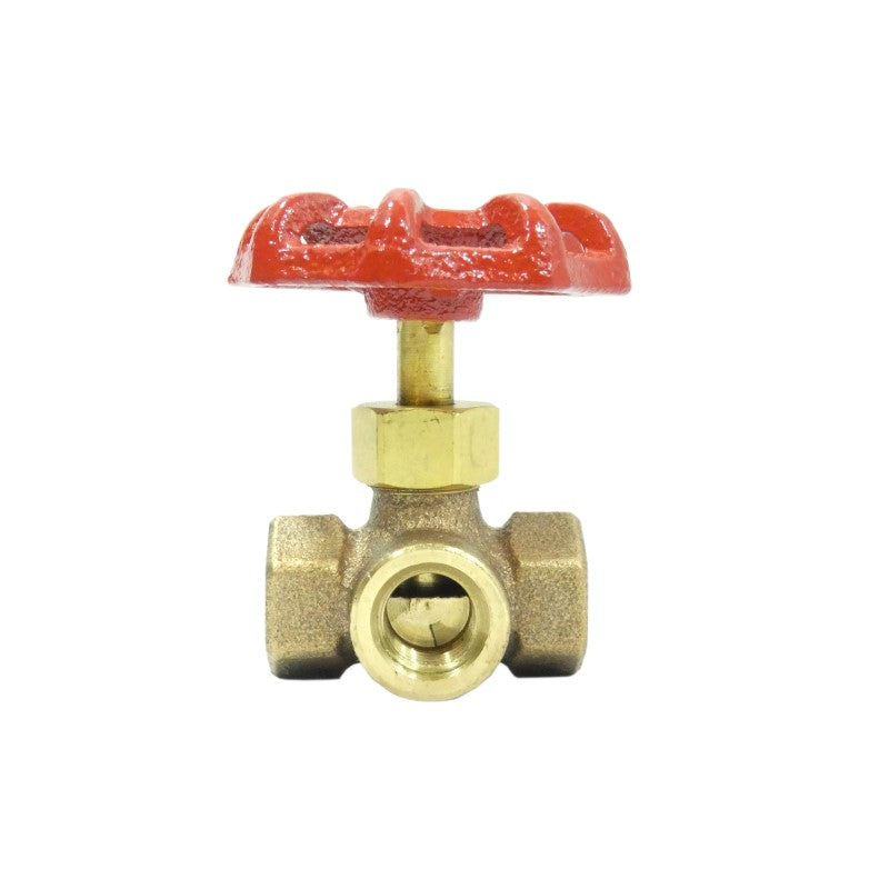 "Brass 3 Way Valve, 1/4"" - W188"
