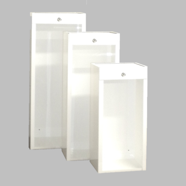Activar/JL Fire Extinguisher Cabinet - Surface Mount White - Available In Multiple Sizes