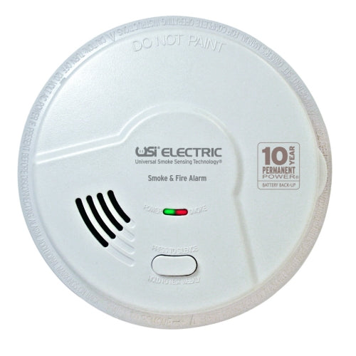 MI106S USI 2-in-1 Hardwired Smoke & Fire Smart Alarm with 10 year Sealed Battery & Universal Smoke Sensing Technology