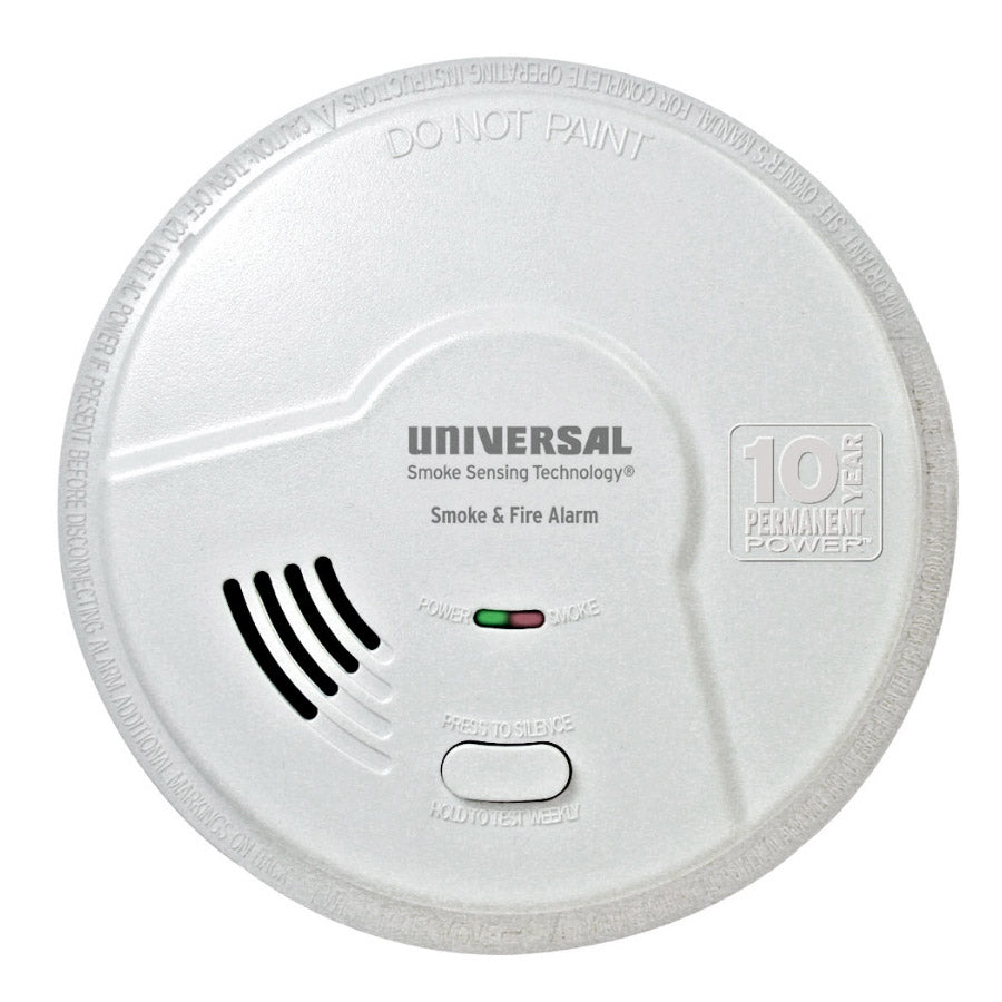 MIB3050S USI Bedroom 2-in-1 Smoke and Fire Smart Alarm with 10 Year Sealed Battery & Universal Smoke Sensing Technology