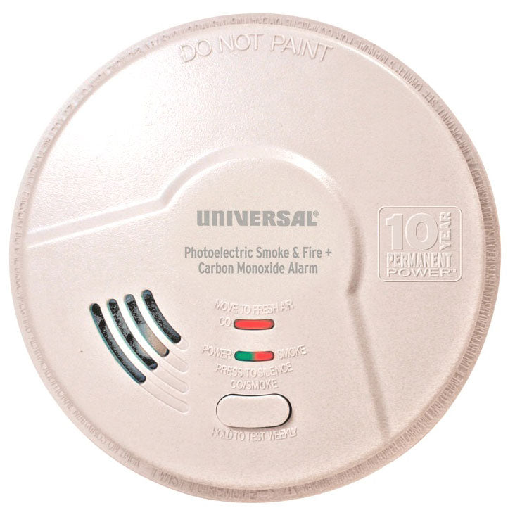 MPC322SB USI Hallway 10 Year Tamper Proof Permanent Power Sealed Battery 2-in-1 Photoelectric Smoke & Carbon Monoxide Smart Alarm