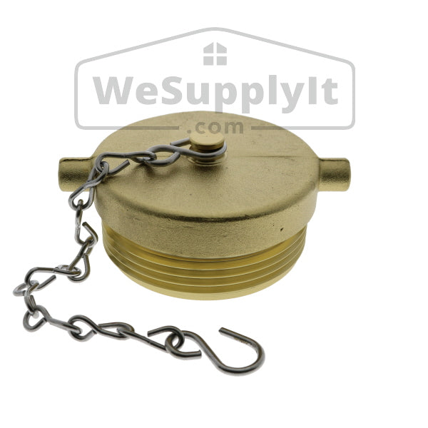 "Plug and Chain, 2 1/2"", Brass, NYCC Thread - W757"