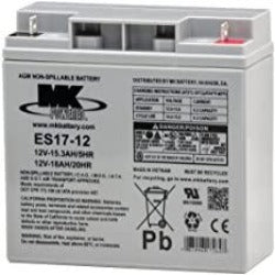 12 Volt 18 Amp Sealed Lead Acid Battery - MK Battery ES17-12 - W875