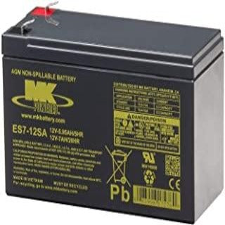 12 Volt 7 Amp Sealed Lead Acid Battery - MK Battery ES7-12SA - W872
