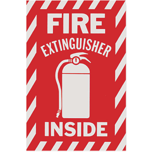 Fire Extinguisher Inside Sign - Vinyl - Available in Multiple Sizes - S119