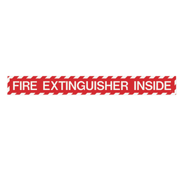 "Fire Extinguisher Inside Sign - Vinyl - 18"" x 2"" - S121"
