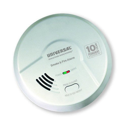MI3050SB USI Bedroom 2-in-1 Smoke and Fire Smart Alarm with 10 Year Sealed Battery & Universal Smoke Sensing Technology