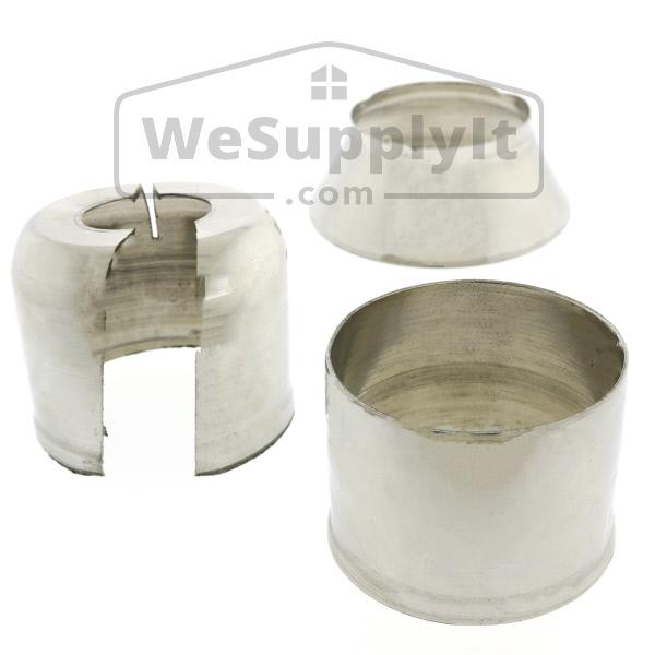 401 Split Escutcheon Cup And Skirt Set Aluminum - Available In Multiple Colors - W118