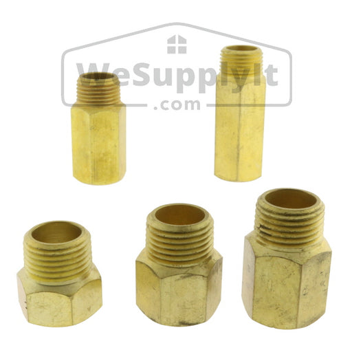 "Brass Extensions - 1/2"" and 3/4"" NPT - Available Multiple Sizes - W199"
