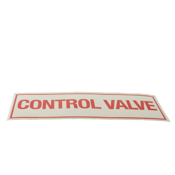 "Control Valve Sign, Sticker, Decal, 6"" x 2"""