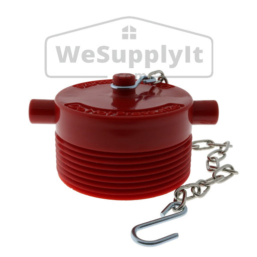 Fire Department Connection FDC Plug With Chain Plastic NST - Available In Multiple Sizes - W331