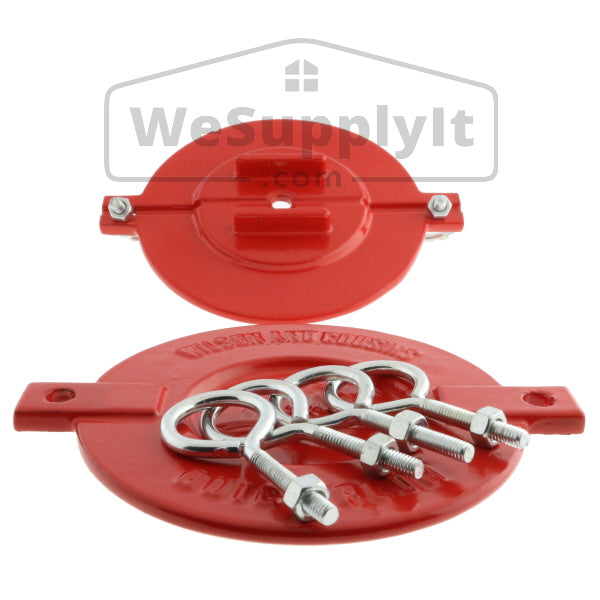 "Fire Department Connection FDC Aluminum Break Away Caps  2 1/2"" Red (Set of 2) - W346"