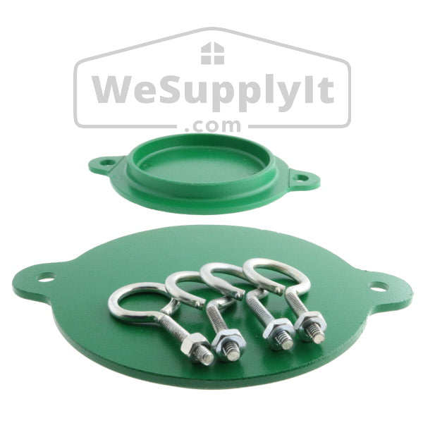 "Fire Department Connection FDC Aluminum Break Away Caps  3"" Green (Set of 2) - W347"