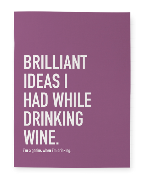 Wine Ideas Notebook