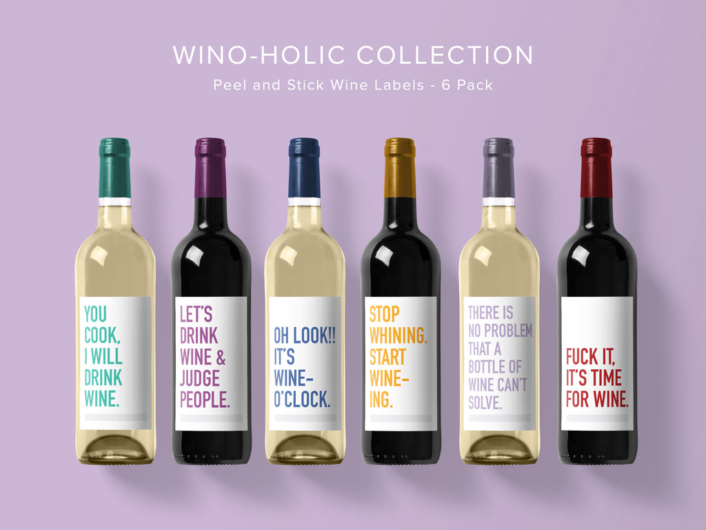 Winoholic Wine Labels