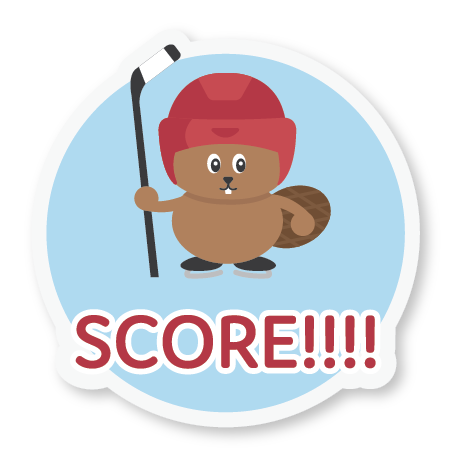 Beaver Hockey Sticker