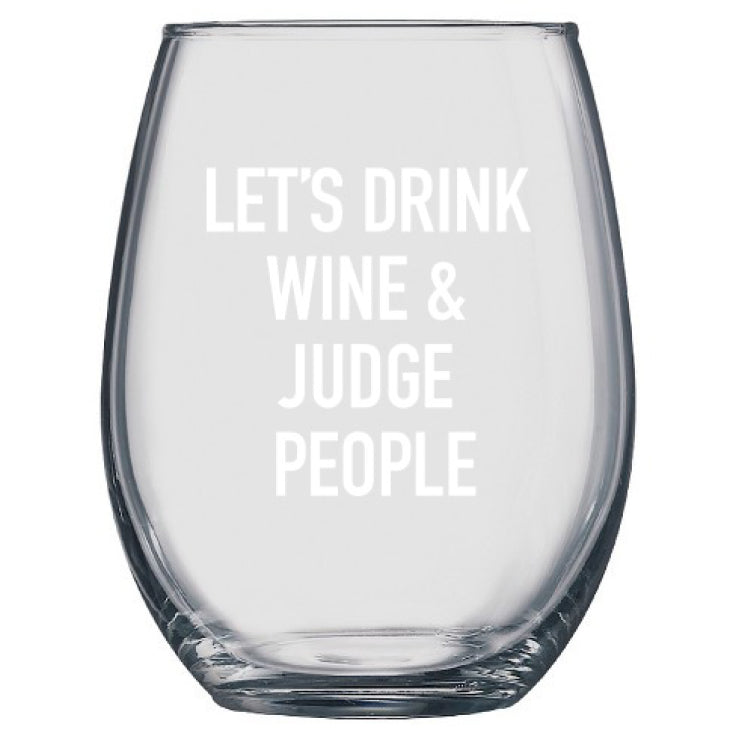 Judge People Wine Glass