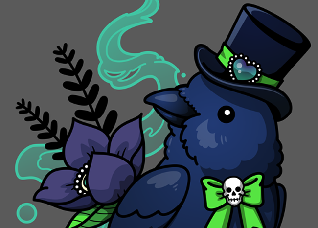 New Design: Chubby Mr. Raven