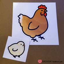 Chubby White Chicken Stickers