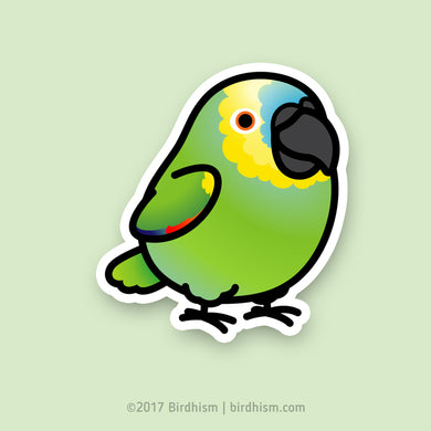 Chubby Blue-fronted Amazon Stickers