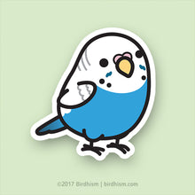 Chubby Blue Budgie Stickers