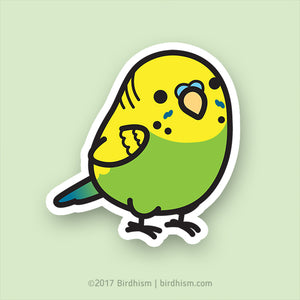 Chubby Green Budgie Stickers