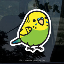 Chubby Green Budgerigar Parakeet Stickers