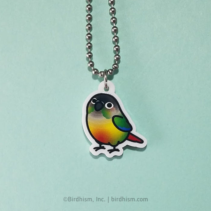 Chubby Yellow-sided Green Cheek Conure Necklace