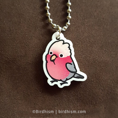 Chubby Rose-breasted/Galah Cockatoo Necklace