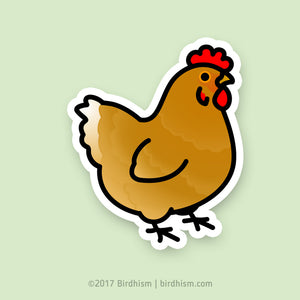 Chubby Rhode Island Red Chicken Stickers
