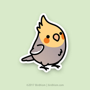 Chubby Cinnamon Cockatiel Stickers