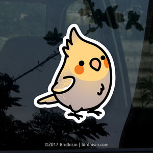 Chubby Cinnamon Pearl Cockatiel Stickers