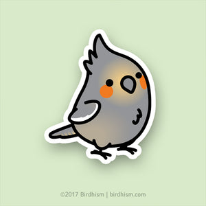 Chubby Female Cockatiel Stickers