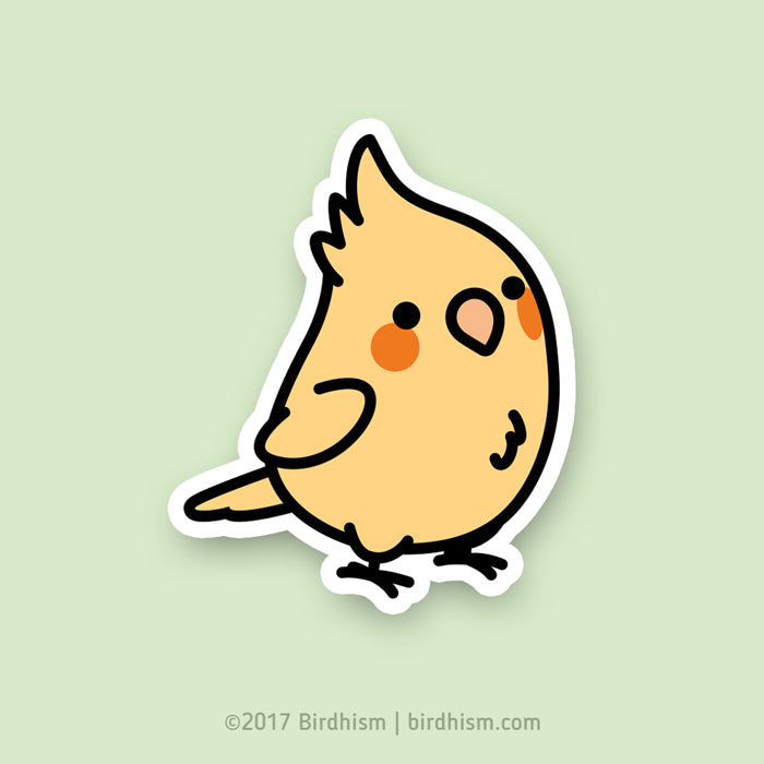 Chubby Yellow Cockatiel Stickers