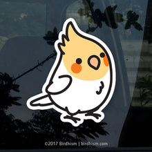 Chubby Lutino Cockatiel Stickers