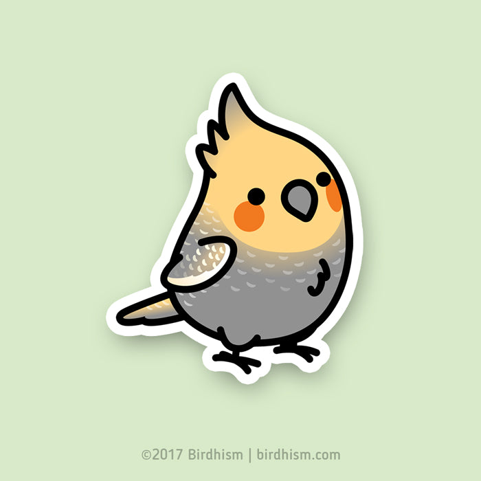 Chubby Pearl Cockatiel Stickers