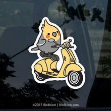 Chubby Scooting Cockatiel Stickers