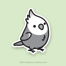 Chubby White-faced Cockatiel Stickers