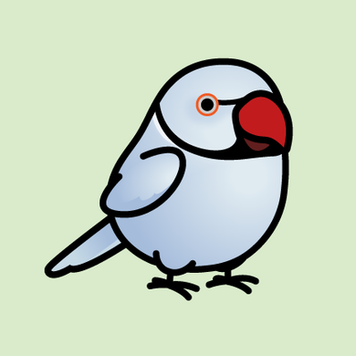 BACK ORDER: Chubby Violet Indian Ringneck Parakeet Stickers