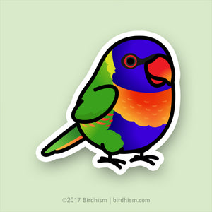 Chubby Rainbow Lorikeet Stickers