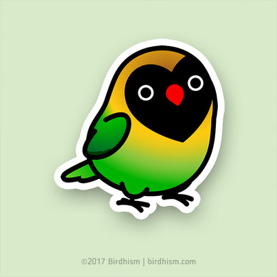 Chubby Black-Masked, Personata Lovebird Stickers