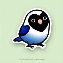 *BackOrdered*Chubby Black-masked, Violet Lovebird Stickers
