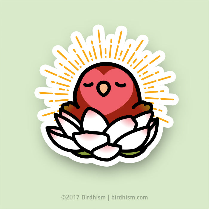 Enlightened Cody the Lovebird Stickers